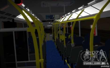 Marcopolo Viale BRT 0500M para GTA San Andreas vista interior
