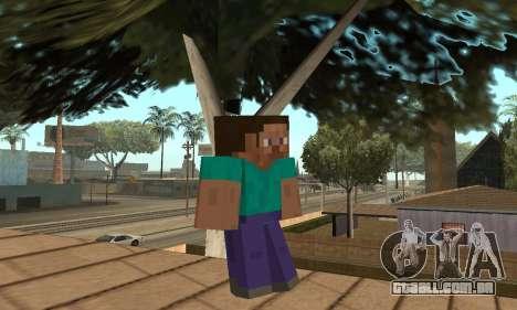 Steve da pele jogo Minecraft para GTA San Andreas