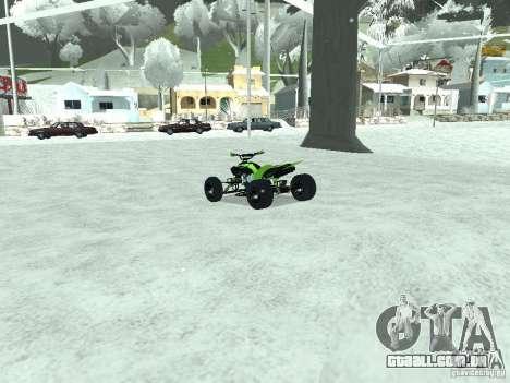 Kawasaki Monster Energy Quad para GTA San Andreas traseira esquerda vista