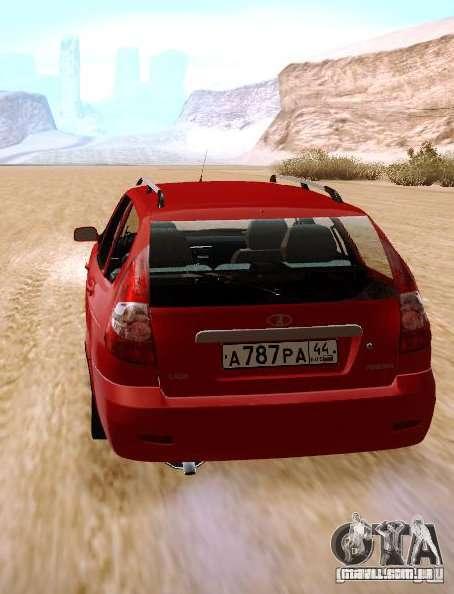 VAZ Lada Priora 2171 para GTA San Andreas traseira esquerda vista