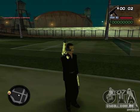 Tec 9 GOLD para GTA San Andreas terceira tela
