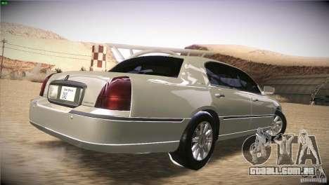 Lincoln Towncar 2010 para GTA San Andreas vista direita