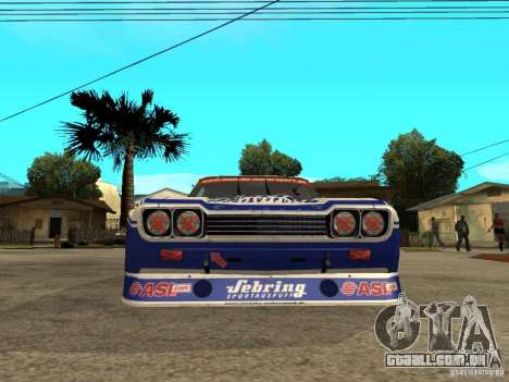 Ford Capri RS Cosworth 1974 para GTA San Andreas vista direita