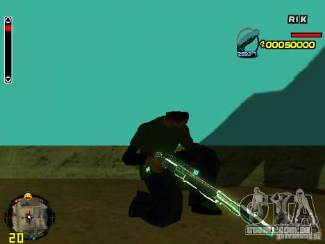 Blue weapons pack para GTA San Andreas sexta tela