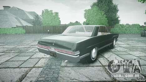Ford Mercury Comet Caliente Sedan 1965 para GTA 4 traseira esquerda vista