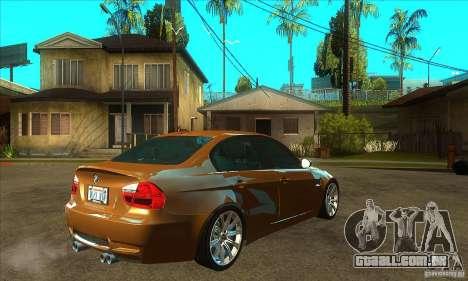 BMW E90 M3 para GTA San Andreas vista direita