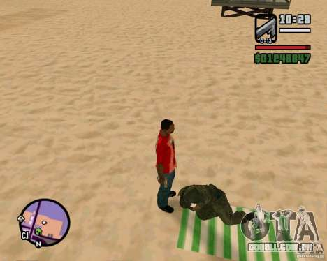 Ação de COD Modern Warfare 2 para GTA San Andreas terceira tela