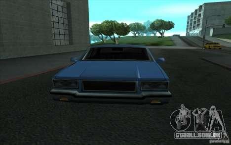 Civilian Police Car LV para GTA San Andreas vista interior