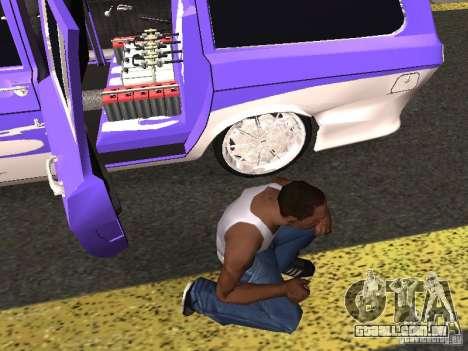 Lowrider GAZ 24-12 para GTA San Andreas vista traseira