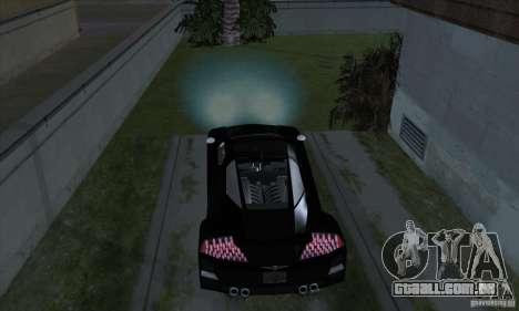 Xenon luzes (faróis de Xenon) para GTA San Andreas quinto tela