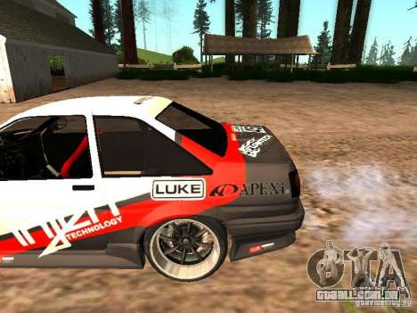 Toyota AE86 Coupe para vista lateral GTA San Andreas
