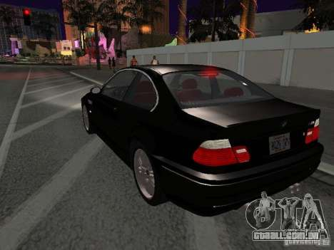BMW M3 GT-R Stock para vista lateral GTA San Andreas