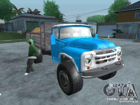 Caminhão de lixo ZIL 130 para GTA San Andreas vista direita