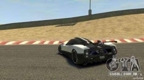 Pagani Zonda Cinque 2009 para GTA 4 traseira esquerda vista