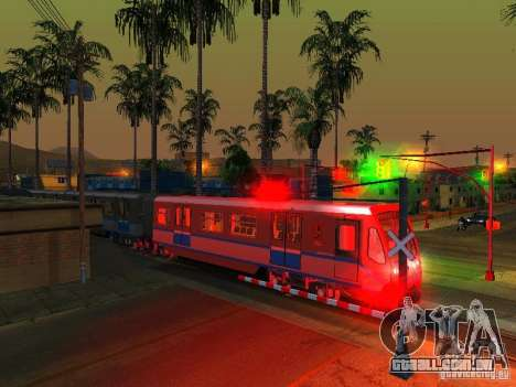 Novo sinal de trem para GTA San Andreas sexta tela