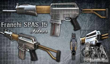[Point Blank] Spas-15 para GTA San Andreas