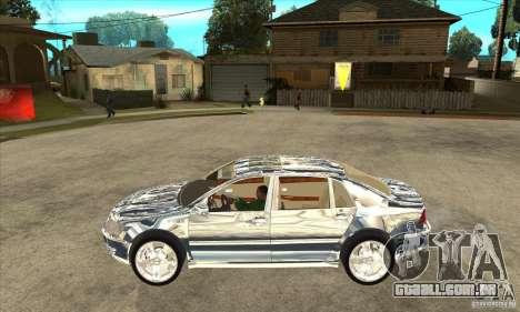 Cromado Volkswagen Phaeton para GTA San Andreas esquerda vista