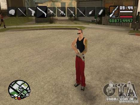 Ícones quando mudar de armas para GTA San Andreas quinto tela