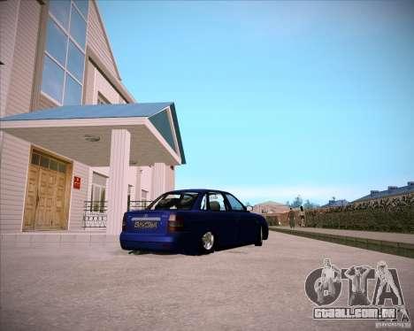 Lada Priora Chelsea para GTA San Andreas vista traseira
