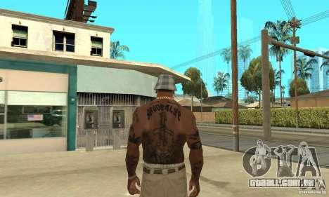 Tattoo mod para GTA San Andreas por diante tela