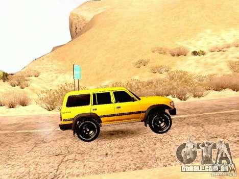 Toyota Land Cruiser 80 Off Road Rims para GTA San Andreas esquerda vista
