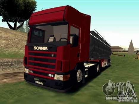 Scania 114L para GTA San Andreas esquerda vista