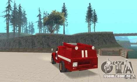 ZIL-130 fogo para GTA San Andreas traseira esquerda vista