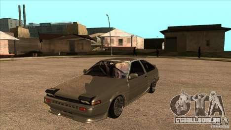 Toyota AE86 JDM para GTA San Andreas