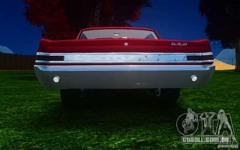 Pontiac GTO 1965 FINAL para GTA 4 vista direita