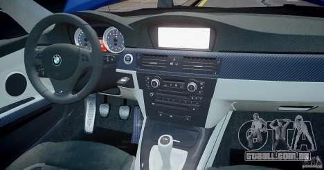 BMW M3 E92 2008 v.2.0 para GTA 4 interior