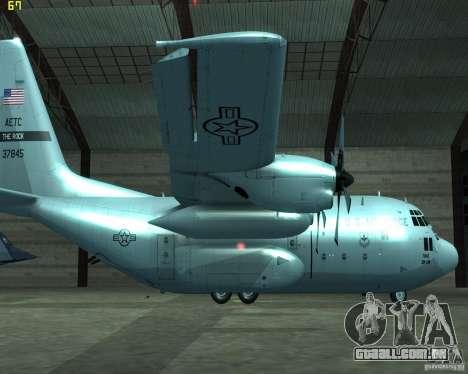 C-130 hercules para GTA San Andreas esquerda vista