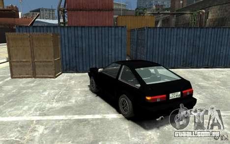 Toyota Sprinter Trueno AE86 para GTA 4 traseira esquerda vista