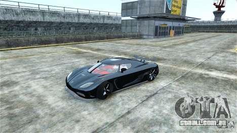 Koenigsegg Agera R para GTA 4 esquerda vista