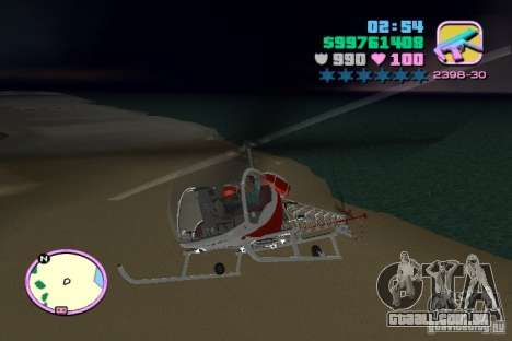 Bell 47 para GTA Vice City vista traseira