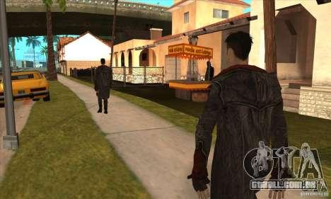 Dante de Devil May Cry para GTA San Andreas por diante tela