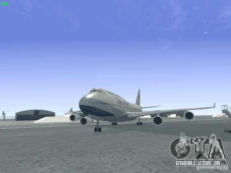 Boeing 747-400 China Airlines para GTA San Andreas