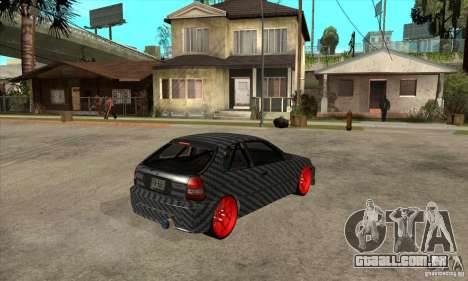 Honda Civic Carbon Latvian Skin para GTA San Andreas vista traseira