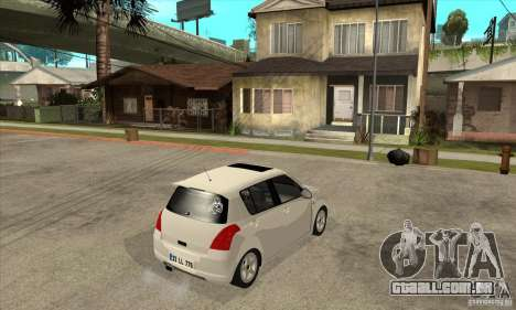 Suzuki Swift 4x4 CebeL Modifiye para GTA San Andreas vista direita