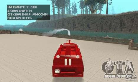 ZIL-130 fogo para GTA San Andreas vista interior