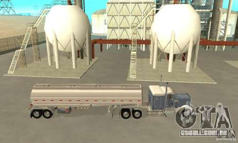 Peterbilt 379 Custom And Tanker Trailer para GTA San Andreas esquerda vista