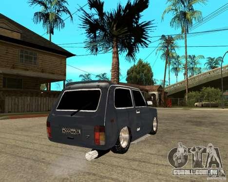 NIVA Mustang para GTA San Andreas traseira esquerda vista