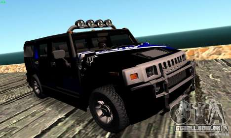 Hummer H2 Tunable para GTA San Andreas vista traseira