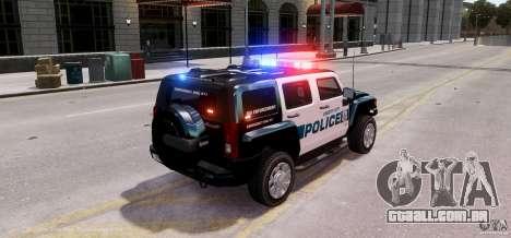 Hummer H3X 2007 LC Police Edition ELS para GTA 4 traseira esquerda vista