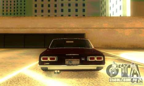 Nissan Skyline 2000-GTR para GTA San Andreas vista inferior