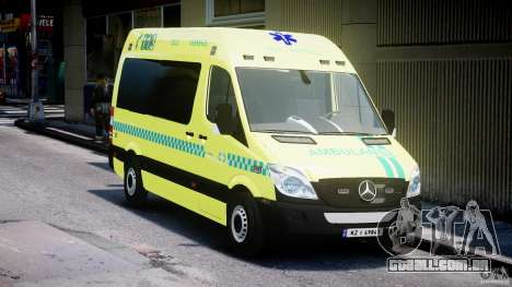 Mercedes-Benz Sprinter PK731 Ambulance [ELS] para GTA 4 vista de volta