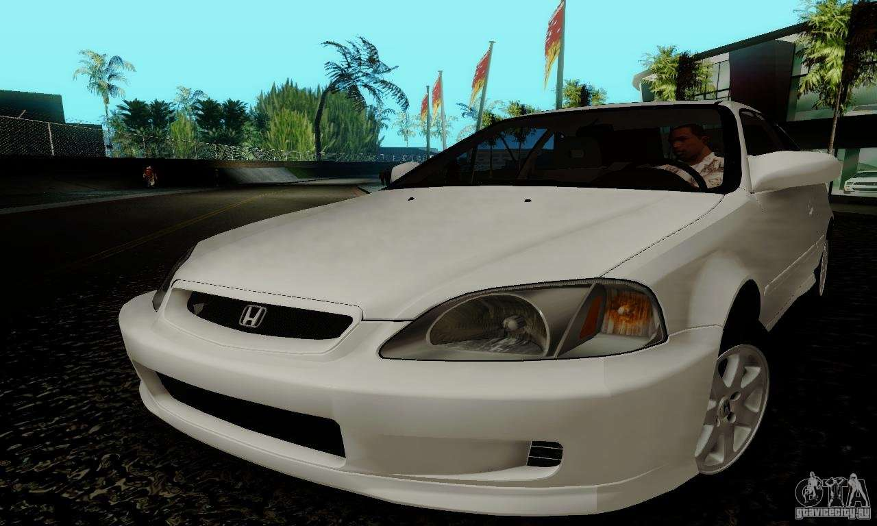 Honda Civic 1999 Si Coupe Para Gta San Andreas