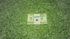 Notas dos Estados Unidos nas notas de $ 50 para GTA 4