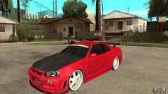 Nissan Skyline GTR-34 Carbon Tune para GTA San Andreas