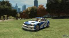 BMW M3 GTR NFS MOST WANTED para GTA 4