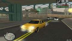 VAZ Lada Priora táxi para GTA San Andreas
